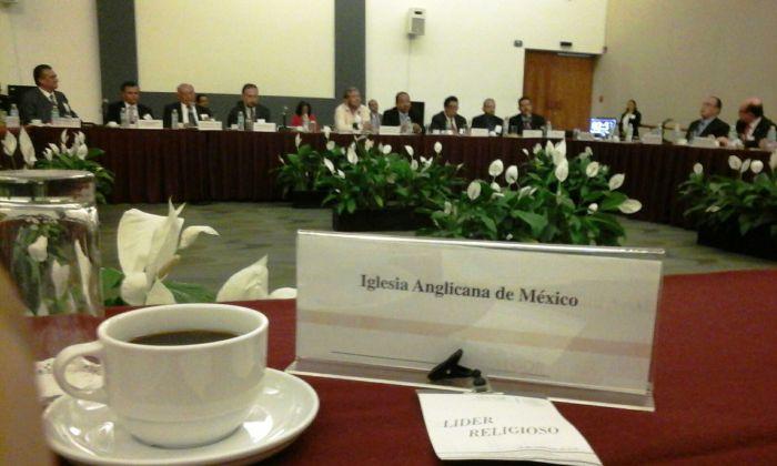 Aspecto de la reunión del liderazgo evangélico nacional con el Lic. Humberto Roque Villanueva, Subsecretario de Asuntos Religiosos de la Secretaría de Gobernación (Foto: México Anglicano).