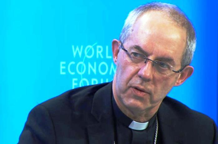 Revdmo. Justin Welby, Arzobispo de Cantórbery, en el Fotro Económico Mundial 2016